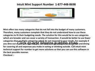 Support for Intuit Mint installation errors or problem in installation & reinstallation