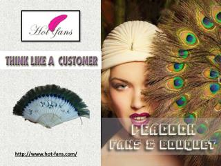 Peacock Feathers Fan
