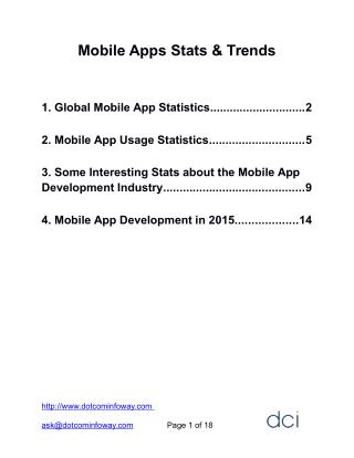 Mobile Apps Statistics and Trends