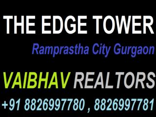 Resale Ramprastha The Edge Tower  // Ramprastha The Edge Tower  Sector 37D Gurgaon  Haryana Call  91 8826997780