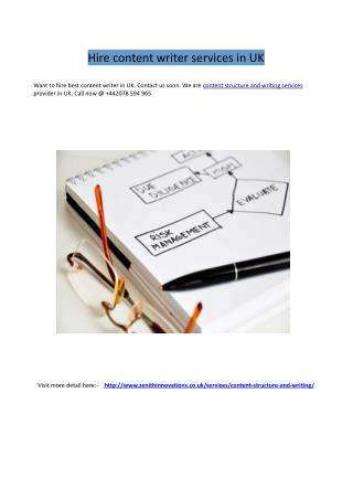 Hire content writer services in UK