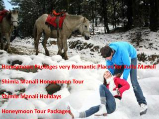 special Honeymoon Tour Packages