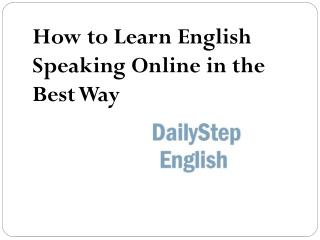 How to Learn English Speaking Online in the Best Way