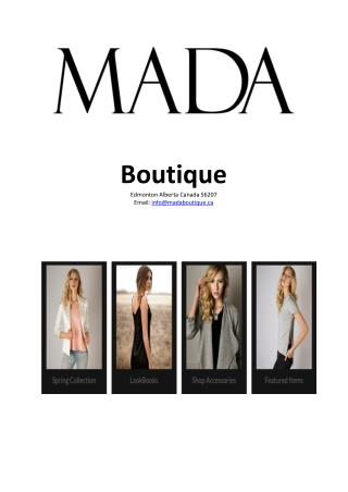 Want to do trendy online women's clothing shopping – Visit Mada Boutique