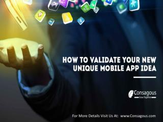 How to Validate your New Unique Mobile App Idea