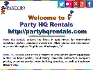Party Rentals Richmond VA