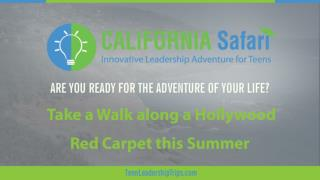 Take the Short Route to the Red Carpet | Summer Training California