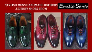 Mens Handmade Oxfords and Derby Shoes - Emillosanto