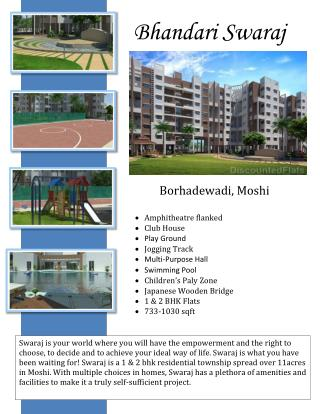 Bhandari Associates presents elite property of Bhandari Swaraj in Moshi