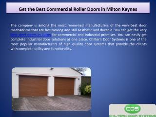 Get the Best Commercial Roller Doors in Milton Keynes