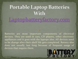 Portable Laptop Batteries