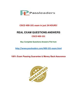 Passleader 400-101 Study Guide
