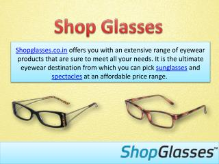 Affordable Eyewear at Shop Glasses
