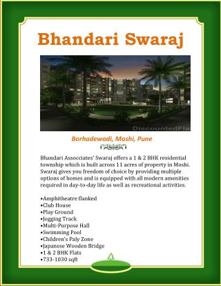 Bhandari Swaraj in Moshi offers smart residences at affordable cost