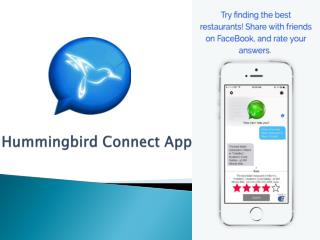 Question & Answer App for iPhone - Hummingbird Connect