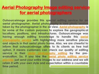 Aerial Photo editing service for cheap cost