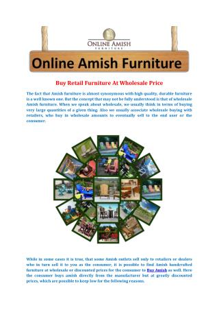 Buy Retail Furniture At Wholesale Price