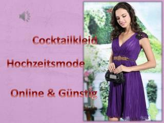 Schicke Knielange Cocktailkleider Günstig Kaufen-Persunkleid