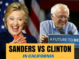 Sanders vs Clinton in California
