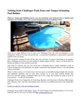 Challenger Pools