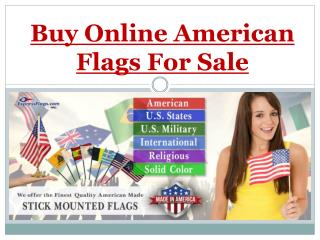 Buy Online American Flags For Sale