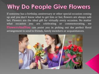 Why Do People Give Flowers