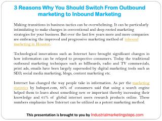 3 Reasons Why You Should Switch From Outbound marketing to Inbound Marketing
