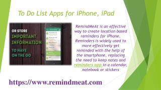 To Do List Apps for iPhone, iPad