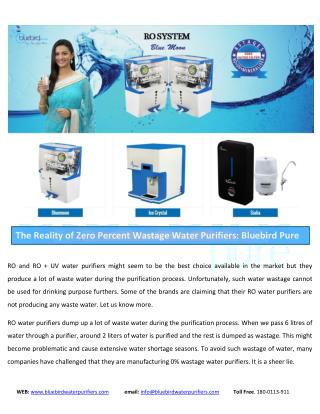 RO, UV, UF, Water Purifiers for Home and Office : Bluebird Pure