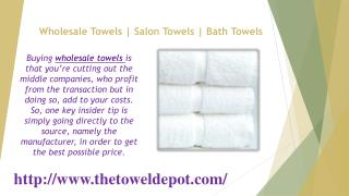 Wholesale Towels - Salon Towels - Bath Towels