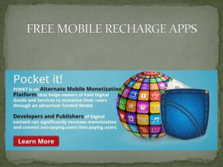 Free Mobile Recharge Apps