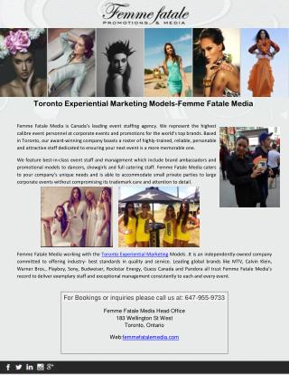 Toronto Experiential Marketing Models - Femme Fatale Media