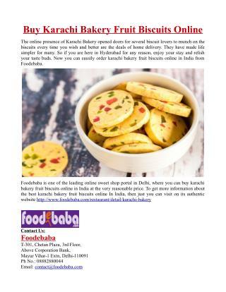 Buy Karachi Bakery Fruit Biscuits Online