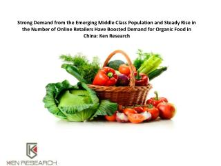 Demand for Organic Food in China: Ken Research
