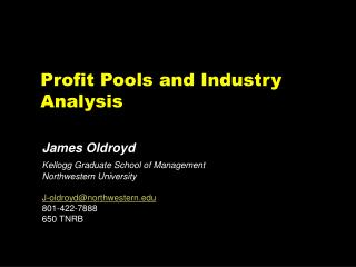 Profit Pools and Industry Analysis