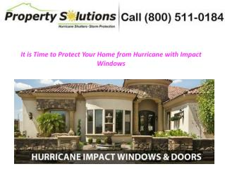 Protect Your Home from Hurricane with Impact Windows