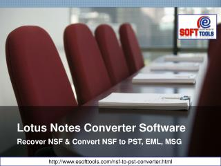 Convert Lotus Notes Files into PST