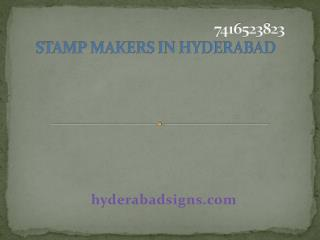 Stamp makers in Hyderabad