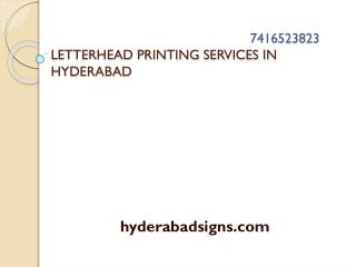 Letterhead Printing in Hyderabad