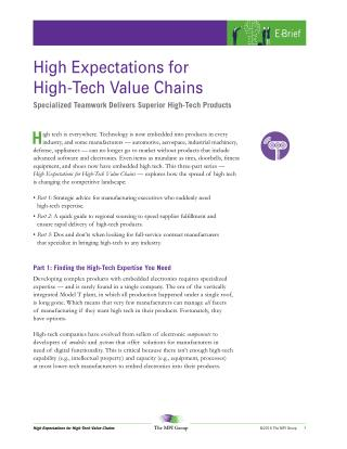 High Expectations for High-Tech Value Chains .pdf