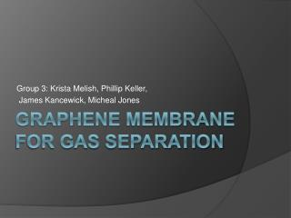 Graphene Membrane for Gas Separation
