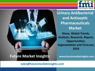 Urinary Antibacterial and Antiseptic Pharmaceuticals Market Growth and Segments, 2016-2026