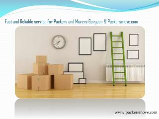 Get Reliable Packers and Movers in Gurgaon at Packersmove.com