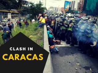 Clash in Caracas