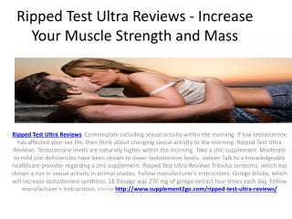 Ripped Test Ultra - Increase Lean Muscle Mass