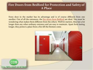 Fire Doors from Bedford for Protection and Safety of a Place