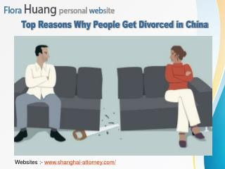 Top Reasons Why People Get Divorced in China