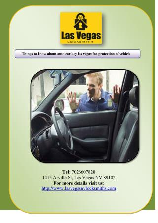 Things to know about auto car key las vegas for protection of vehicle