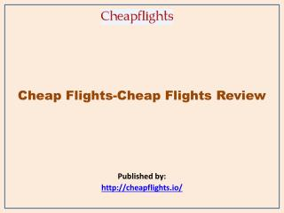 Cheap Flights Review