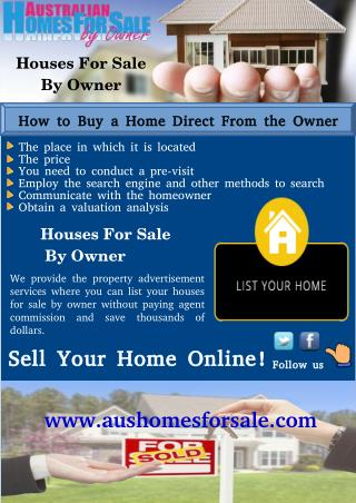 Listing Benefits Houses For Sale by Owner in Nambour, Australia